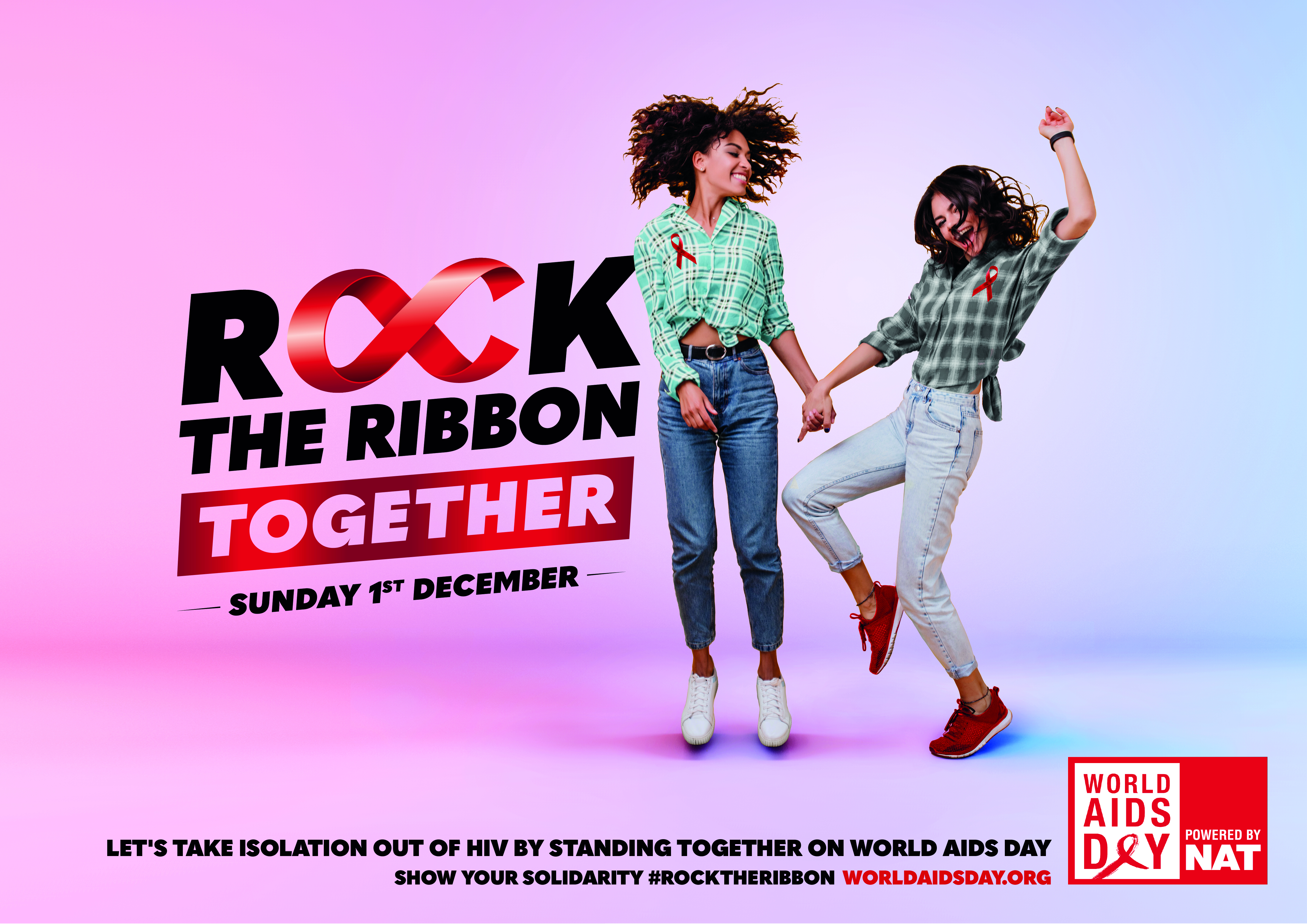 ROCK THE RIBBON TOGETHER POSTER 1 - LANDSCAPE