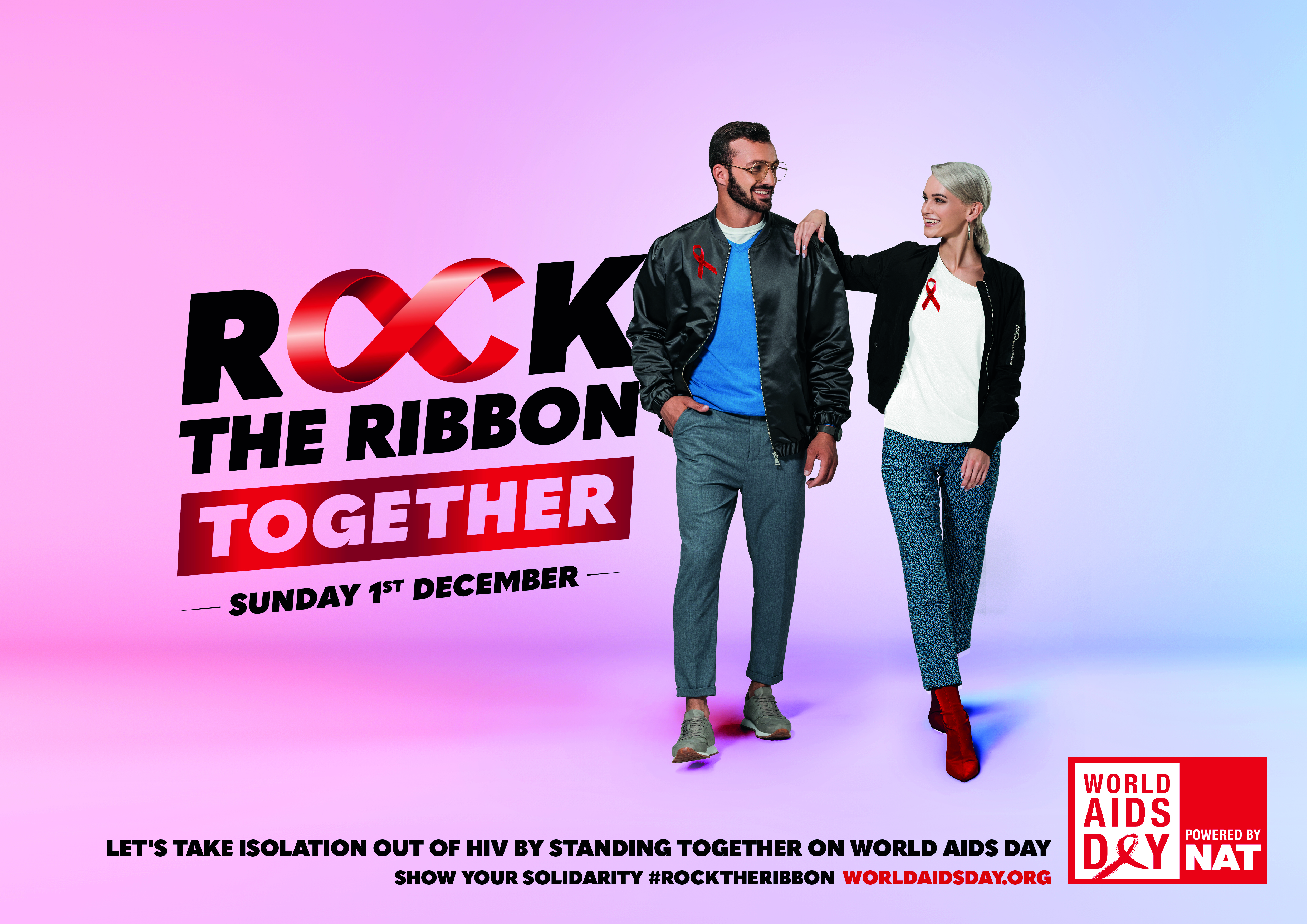 ROCK THE RIBBON TOGETHER POSTER 3 - LANDSCAPE