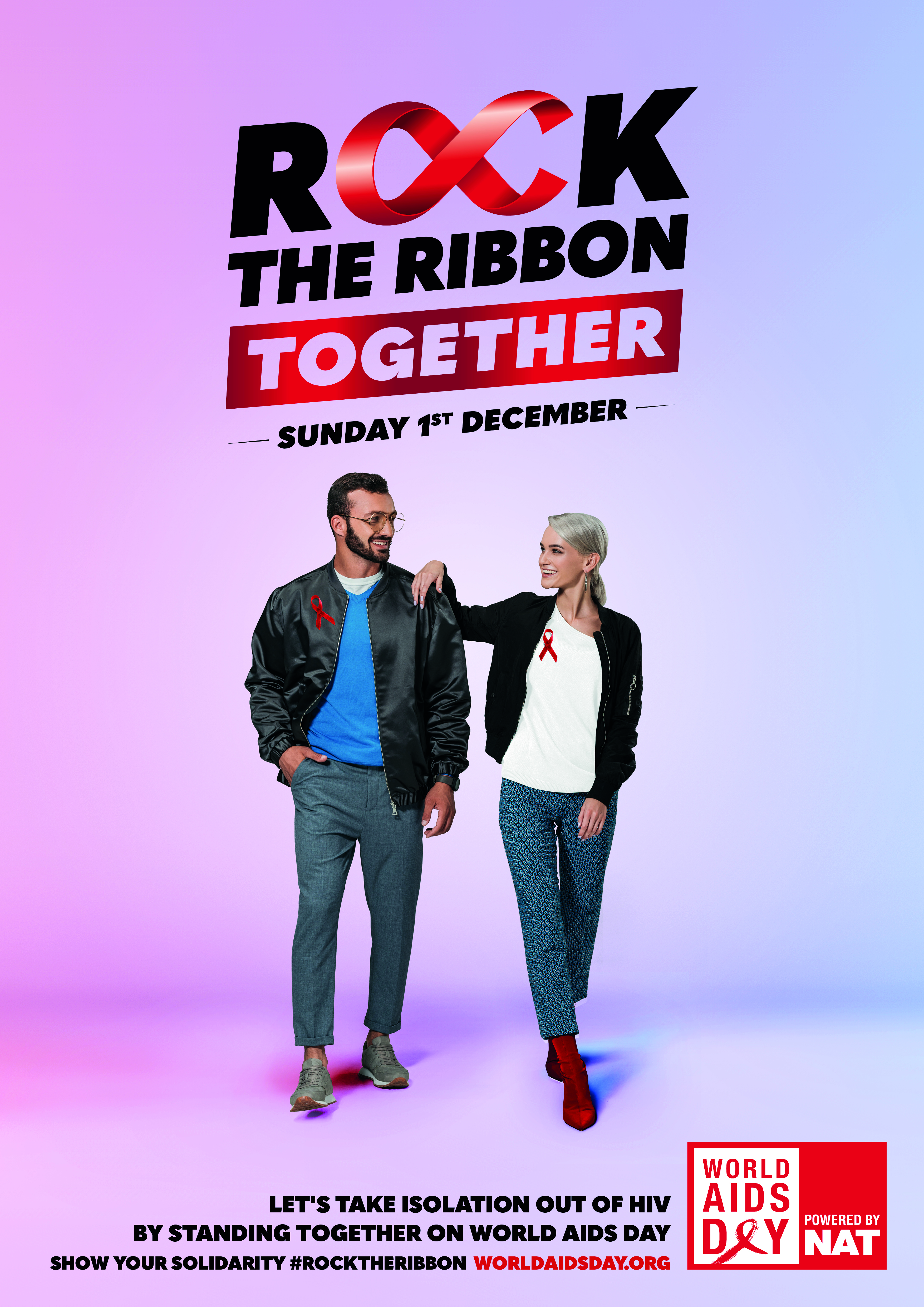 ROCK THE RIBBON TOGETHER POSTER 3 - PORTRAIT