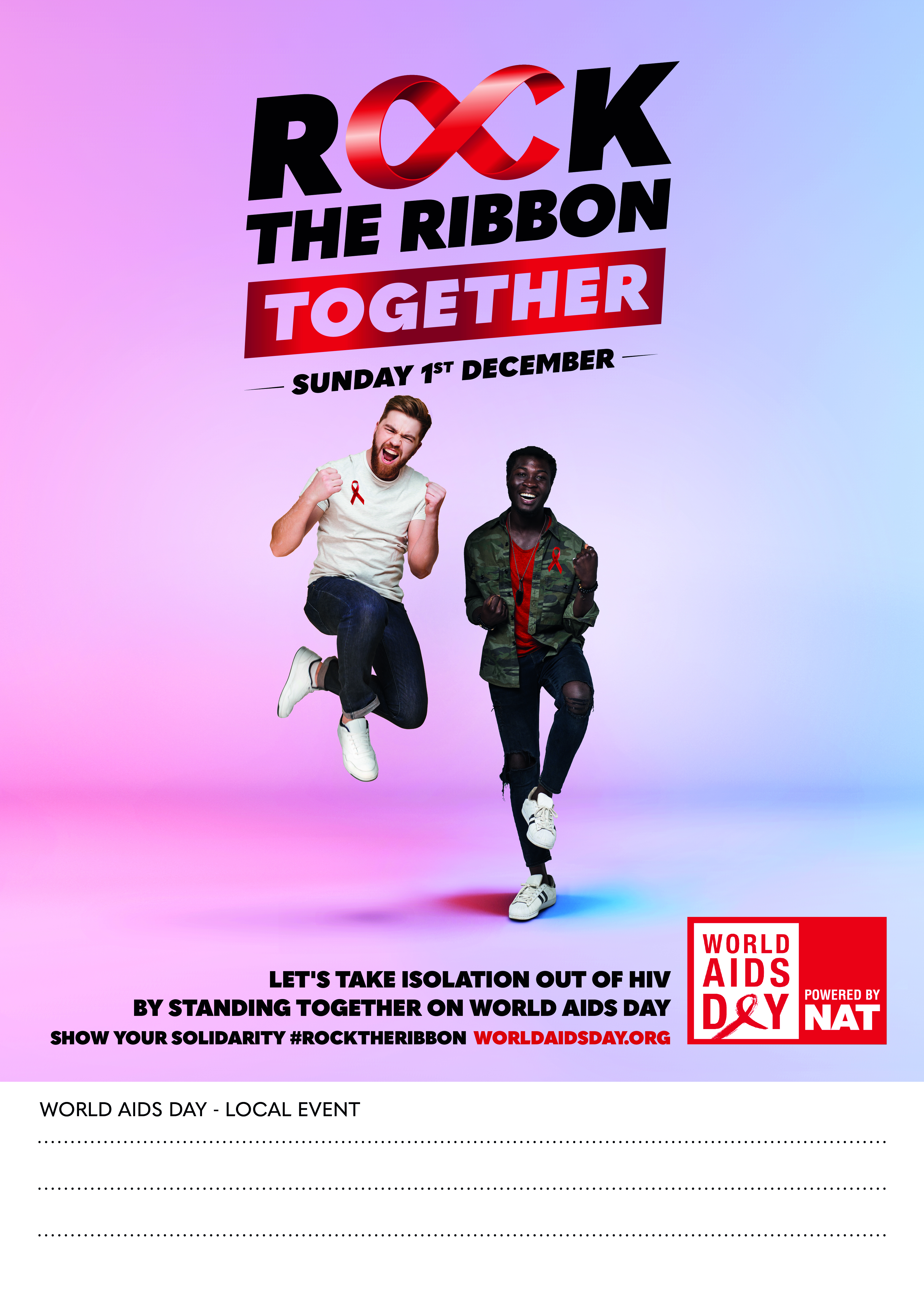 ROCK THE RIBBON TOGETHER POSTER 2 - CUSTOMISABLE