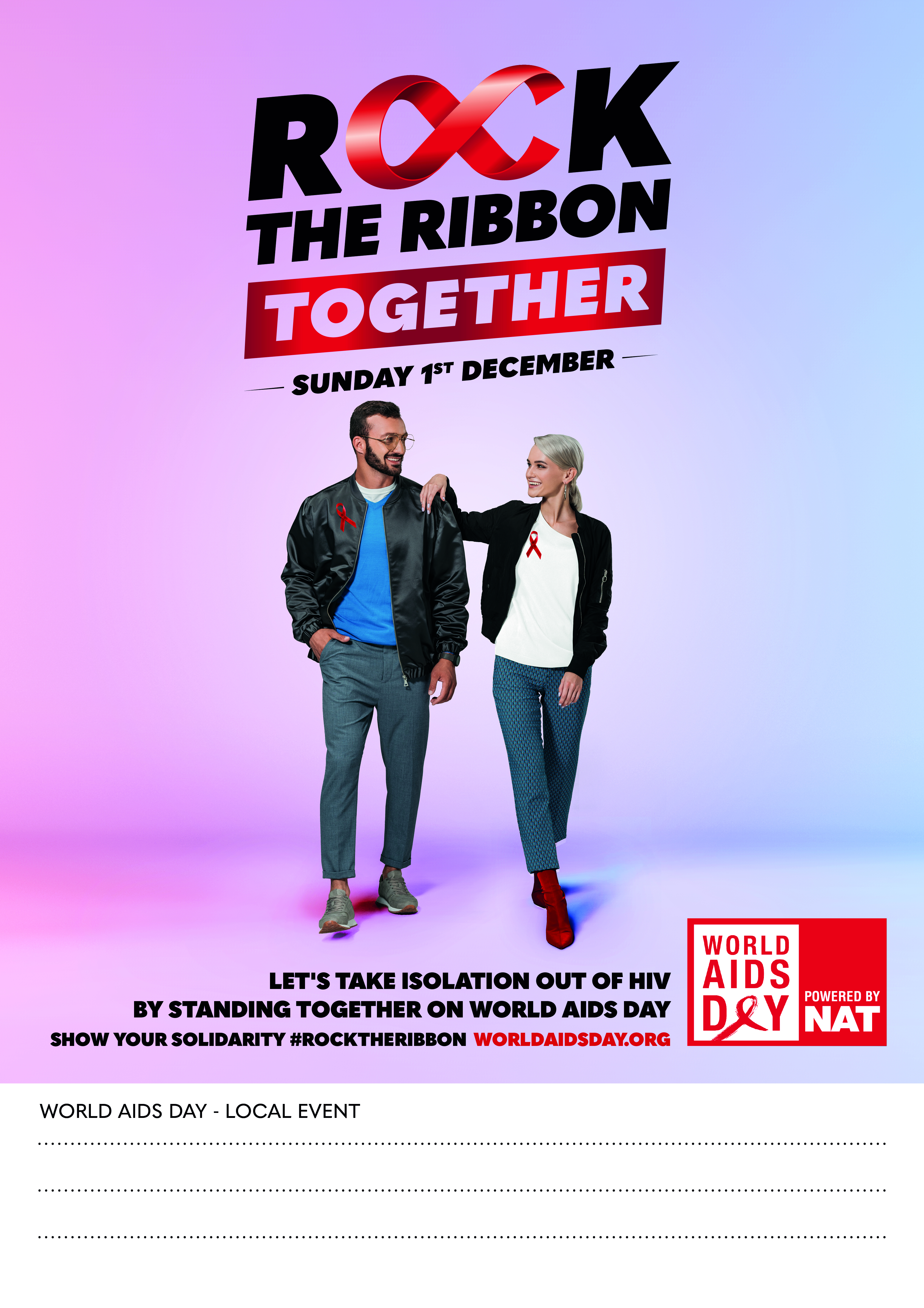 ROCK THE RIBBON TOGETHER POSTER 3 - CUSTOMISABLE
