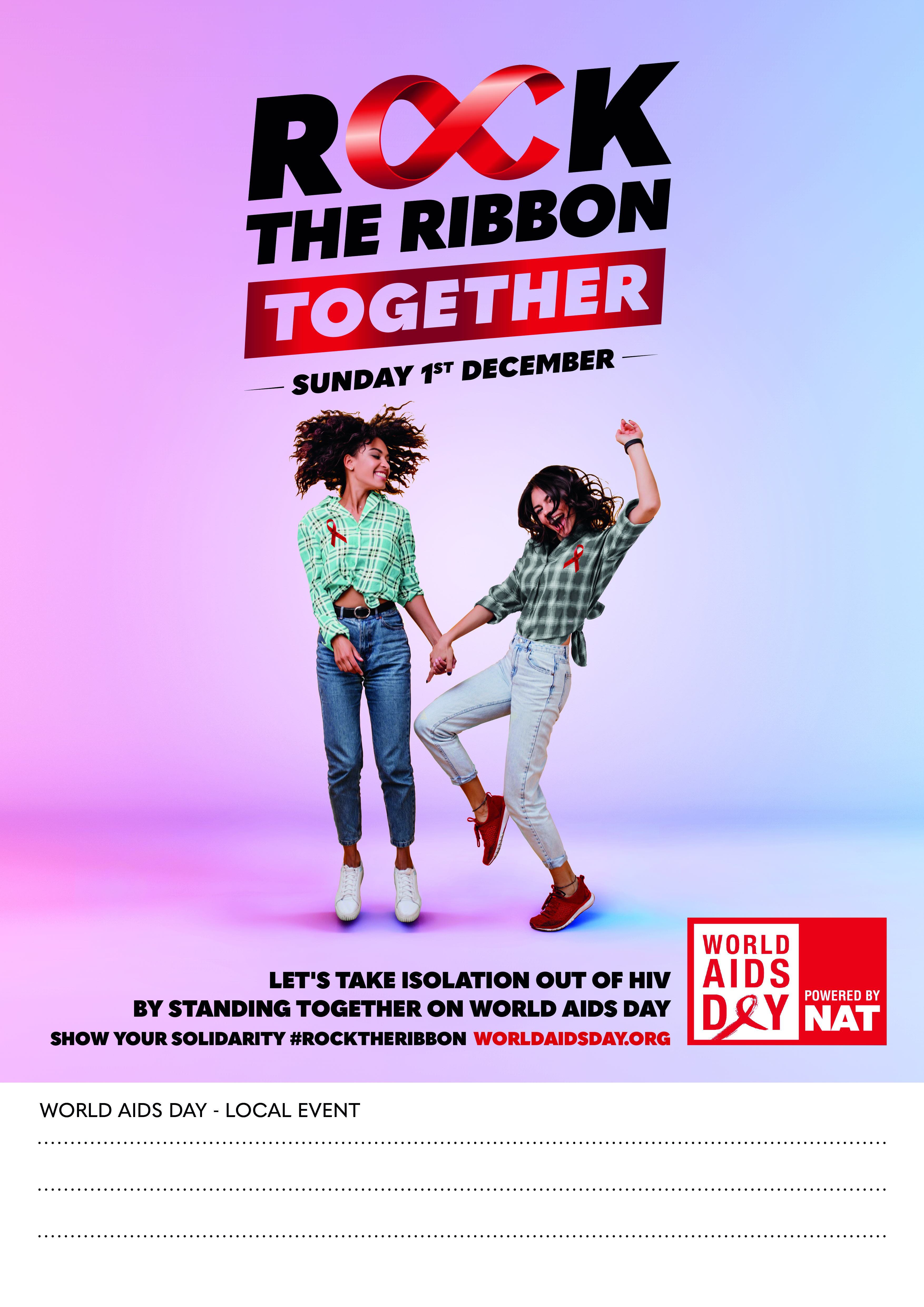 ROCK THE RIBBON TOGETHER POSTER 1 - CUSTOMISABLE