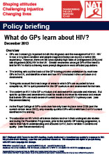 What do GPs learn about HIV?
