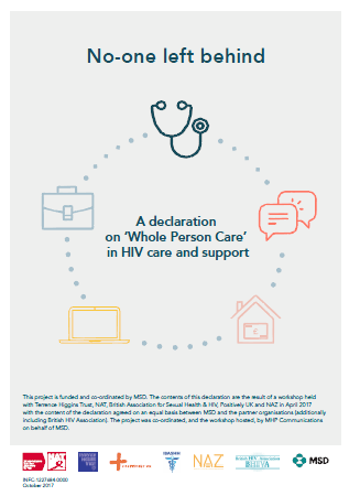 A declaration on 'Whole Person Care' in HIV care and support