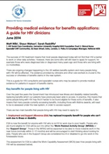 Providing medical evidence for benefits claims