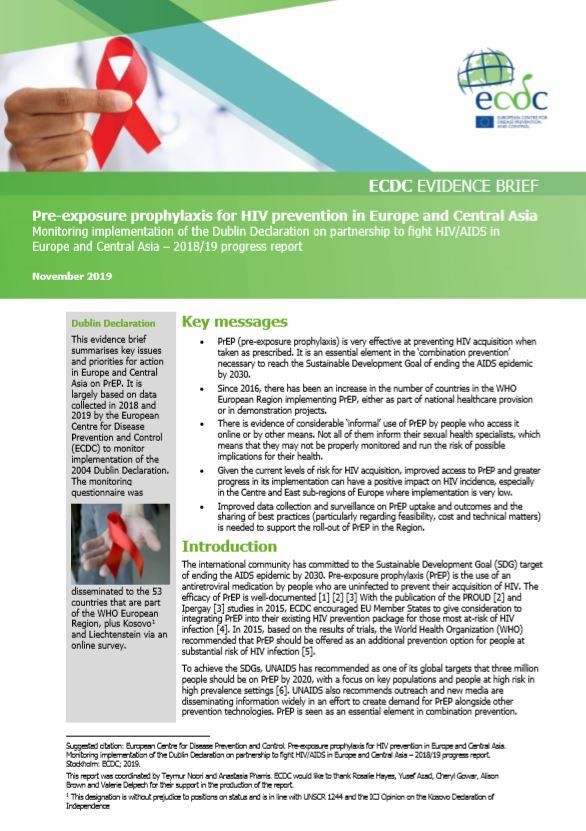 HIV prep evidence briefing ECDC