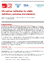 HIV Partner Notification for Adults: definitions, outcomes & standards