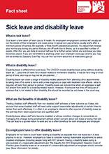 Factsheet: Sick leave & disability leave