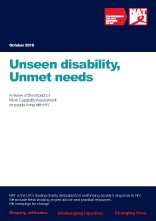 Unseen disability, Unmet needs: A review of the impact of Work Capability Assessment on people living with HIV