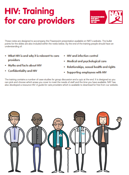 HIV: Training for care providers (PDF) | National AIDS Trust