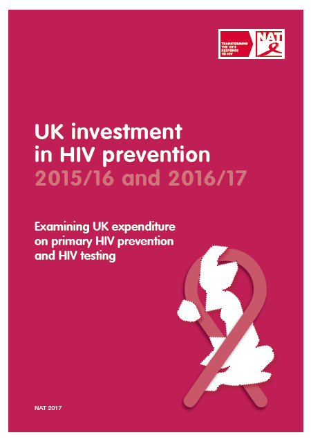 UK investment in HIV prevention 2015/16 and 2016/17
