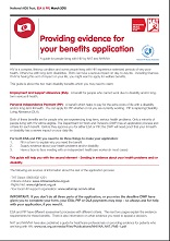 Providing evidence for your benefits application: A guide for people living with HIV