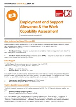 Employment and Support Allowance and the Work Capability Assessment - Information for People Living with HIV