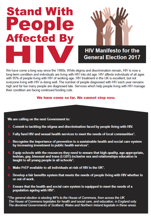 HIV Manifesto for the General Election 2017