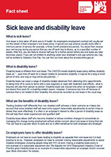 Factsheet: Sick leave & disability leave